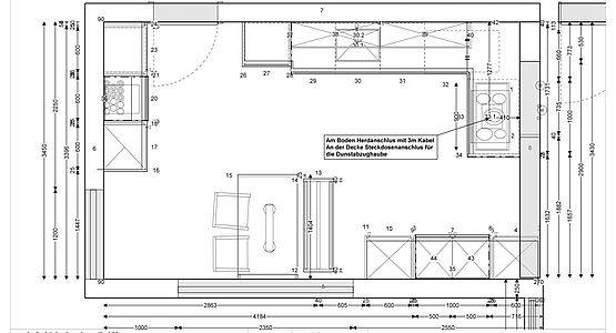 Installationsplan kuche elektro for Kuchenplan erstellen